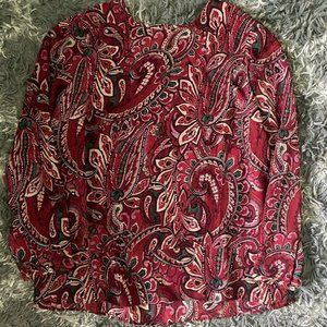 J. Jill printed blouse top size Large